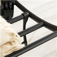 AUSWIND black paint towel rack with hangers and towel bar multi-fuction towel rack wall mounted bathroom accessories