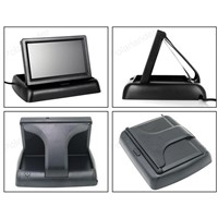 "4.3"" TFT LCD Parking Assistance DC 12V Foldable Car Monitor With 8 LED night vision Rear View Camera"