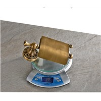 Easy install bathroom Accessories for Holding roll Paper Antique Color Copper Made Paper Rack Holder 7827