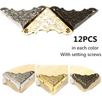 Antique Furniture Corner Bracket Jewelry Wooden Box Corner Frame Feet Leg Corner Protector for Corner Decorative Protector
