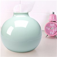 New PP Round Ball Shape Towel Box Modern Solid Color Home Living Room Tissue Organizer Box