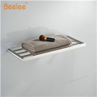 Beelee  Bathroom Minimalist Towel Rack Shelf Wall Mounted,Brushed SUS304 Stainless Steel BA3203SS