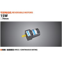 15W 220V reversible AC gear motor 3RK15GN-C engine with a gearbox 3GN-50-K output speed is 27 rpm 70x70mm