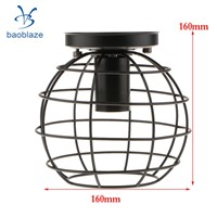 Vintage Lampshade Balloon Industrial light Iron Frame lamp Cage Guard Bar Cafes