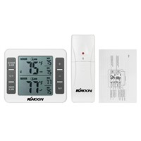 Digital Thermometer Temperature Meter Weather Station tester + Wireless Outdoor Transmitter 0-50C with C/F Max Min Value Display