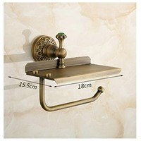 Beelee Bathroom Tissue Holder/toilet Paper Holder Solid Brass Wall-mounted Toilet Roll Holder, Toilet Paper Tissue Holder with M