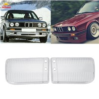 Car Headlight headlamp Lens Cover Case Clear Right&Left Headlight Lens Shell Lamp Assembly For BMW E30 1984-91 85 86 87 88 89 90