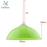 6pcs Semi-circular Lamp Shade with Lamp Line Chandelier Lampshades Light Fixtures Multi Colors
