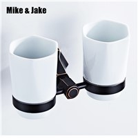 Bathroom Cup Tumbler Holders Brass wall Cup Bathroom Accessories Gold Double Cup Tumbler Holders Toothbrush Cup Holders