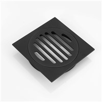 HIDEEP Black Modern design Brass Bathroom Deodorization Type Floor Drain Kitchen Filter Strainer Drainer Drain Floor Drain