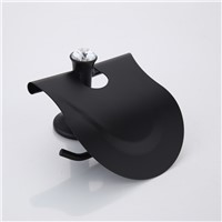 Stainless Steel Black Toilet Paper Holder Bathroom Toilet Roll Holder For Roll Paper Towel Square Bathroom Accessories