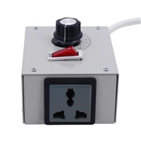 Universal 4000W 220V Single Phase AC 0-220V Adjustable Motor Speed Regulator Controller Switch for Electric Drill
