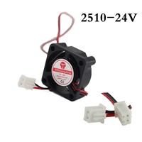 1pcs 2510Fan 2510 Mini Fan 24V 25x25x10mm 2-Pin Computer PC VGA Video Heat Spread Cooler Cooling Fan for stepper motor