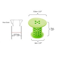 silicone bathroom sink drain strainer sink plug strainer shower floor drain kitchen sink filter bathtub drain - Kitchen Sink Drain Strainer