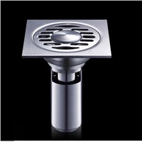 Wahing Machine Floor Drain For Deep Water Brass 4*4 inch Chrome
