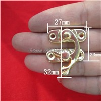 12PCS Antique Decorative Jewelry Gift Wine Wooden Box Hasp Latch Hook + 4 Screws Drop Ship