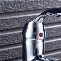 POIQIHY Sink Faucet Single Handle Basin Faucet Bathroom Modern Mixer Taps Basin Faucets Modern Mixer Water Bathroom Faucet