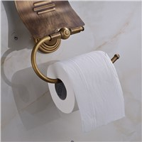 Antique Brass Bathroom Toilet Paper Holder Roll Holder Tissue Holder Wall Mounted Bathroom Accessories