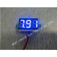 Blue 0.36 Inch 2.5V-30V Mini Digital Voltmeter Voltage Tester Meter LED Screen Electronic Parts Accessories Digital Voltmeter