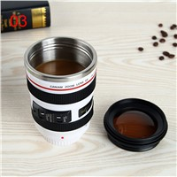 New SLR Camera Coffee Mug, Stainless Steel  insulation Teacup,Beer mug  Black Plastic Cup,Creative Cups And Mugs With Lid