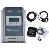 40A MPPT Solar Charge Controller + Remote Meter MT50 EPEVER Battery Regulator Battery Temperature Sensor and Monitoring Adapter
