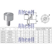 Ahcell KSM25-FL Ball transfer unit M12 thread bolt rod fix mounting caster machined solid carbon steel Robot ball roller wheel