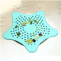 2017 New 1Pc Star Shape Plastic Kitchen Mint Plan Bath Shower Drain Cover Waste Sink Strainer Hair Filter Catcher House Gadgets
