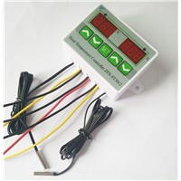 AC 220V 12V 24V Digital LED Dual Thermometer Temperature Controller Thermostat Incubator Control Microcomputer Dual Probe