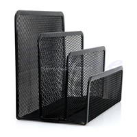 Mesh Letter Sorter Mail Document Tray Desk Office File Organiser Holder Black -Y121 Best Quality  -Y122