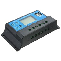 Solar charge controller LCD 12V / 24V USB interface for solar module solar panel
