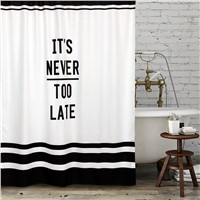 Nordic Style Pure Bathroom Shower Curtain Simple Design Modern Waterproof Mold Resistant Curtains Thick Fabric Quote