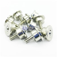 5PCS SP-8FL 8mm ball miniature bolt mount milled steel toy robot 15kg Load heavy duty Ball transfer unit roller steel caster