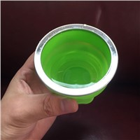 Newest COLLAPSIBLE TRAVEL CUP - Foldable Drinking Mug with Lid - Food-Grade Silicone - Water Cups for Hiking, Camping, Travel