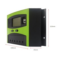 Smart Solar Charge Controller Light Photovoltaic Controller 48V 30A with Easy-to-read LCD Screen & USB Ports LD3048