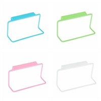 1PCSmulticolor Hang On Cupboard Door Back Towel Holder Plastic Towel Holder Hook Type Home Kitchen Accessories