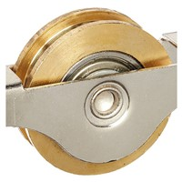 "1.3"" Dia Single Roller Double Bearing Window Sash Pulley Wheel"