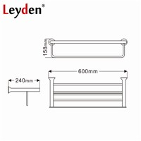 Leyden Stainless Steel Towel Rack Brushed Nickel Towel Holder Rail Clothes Shelf Wall Mounted Towel Shelf Bathroom Accessories