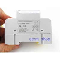 20pcs thc15a  Din rail timer relay time switches weekly programmble electronic TIME SWITCH  bell ring device