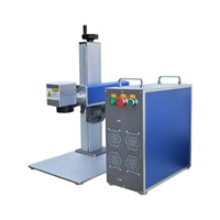 Portable 10w Fiber Laser Marking Machine for Metal Balance Scale Rod Staff Tape Vernier Slide Gauge