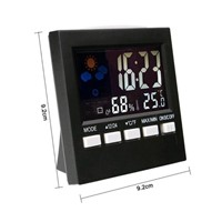 Digital LCD Alarm Clock Electronic Temperature Humidity Meter Digital Indoor /Outdoor Thermometer Hygrometer Weather Station
