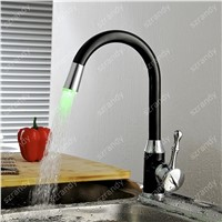 Black Solid Painting Deck Mount Painting Finish Kitchen Sink Faucet LED light Wet Sink Bar Faucet , Oil Rubbed Bronze