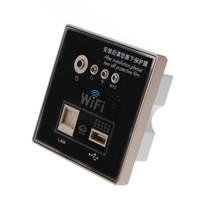 1Pc 300M Wireless AP Router Wall Embedded 86 Type USB Charging Plug Socket Panel