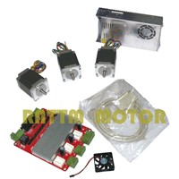 EU Delivery!!! 3 Axis CNC kit, 3pcs Nema23 270 oz-in stepper motor + 3 axis CNC board and 350W 24V power supply
