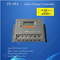 30A PWM Solar Charge Controller, auto work 12v/24v Solar Panel Voltage Controller Regulator