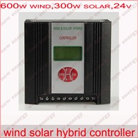 900W 24V/48V  wind solar hybrid controller( 600w wind + 300w solar+LCD display) / hybrid regulator charger