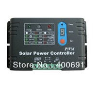 30A 48V PWM Solar System Charge Controller with LED Digital Display, Metal Shell, Temperature Compensate