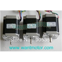 Cheap CNC! 3PCS Nema23 with, 6-Leads 18.9Kgcm ,270 oz-in ,1.8Degree, 78mm CNC NEMA 23 Stepper Motor of Wantai