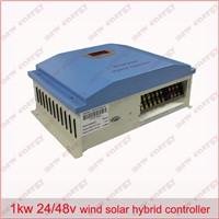 LCD display, 1kw 24v / 48v  wind solar hybrid controller regulator
