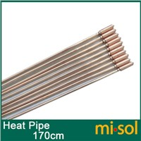 10pcs/lot of copper heat pipe (170cm), for solar water heater, solar hot water heating