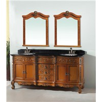 luxury vanity cabinet double sinks bath vanity antique bathroom furniture 0281